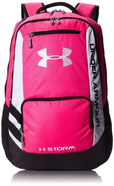Under Armour Hustle Backpack The Hustle Backpack is made with UA Storm gear which uses a DWR finish to repel water without sacrificing breathability. Soft lined Rucksack Backpack, Black Backpack, Under Armour Backpack, Back To School Backpacks, Nike Bags, Nike Joggers, Cute Backpacks, Teen Backpacks, Back Bag