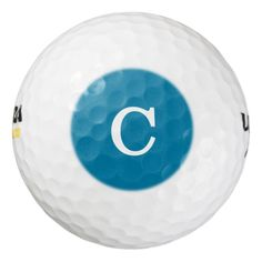 Monogram Pacific Blue Durable Full Color Pack Of Golf Balls