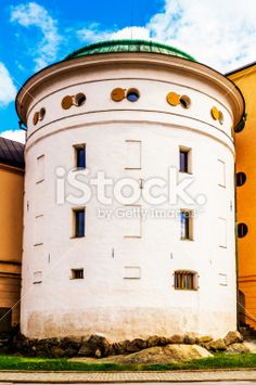 Tall cylinder shaped building Royalty Free Stock Photo