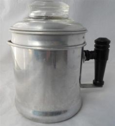 Vintage Small Aluminum Coffee Pot Percolator 2 Cup Stove Top Camping