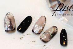+PLUS...|ネイルデザインを探すならネイル数No.1のネイルブック Love Nails, My Nails, Image Nails, Super Cute Nails, Japanese Nail Art, Feet Nails, Nail Tutorials, Beauty Art, Black Nails