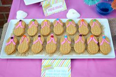 Candy By Candy M's Birthday / Disney Teen Beach Movie/surf Birthday PArty - Photo Gallery at Catch My Party Luau Birthday, 6th Birthday Parties, Birthday Ideas, Birthday Cupcakes, Teen Beach Party, Beach Baby Showers, Lilo E Stitch, Luau Party, Party Fun