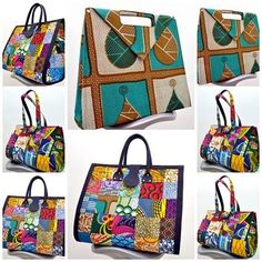 3 new bags designed and styles by Ghanaian label ADU A Klodin. A mixture of Assasa print fabric and more. If this fits with items in your wardrobe, then don't Fashion Handbags, Purses And Handbags, Fashion Bags, African Accessories, Fashion Accessories, Style Afro, Ankara Bags, Moda Afro, Bags 2017