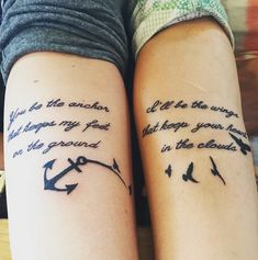 A most thorough guide on Best friend tattoos (BFF tattoos). They make a memorable gift which two friends can give to each other. Bff Tattoos, Tattoos Skull, Anchor Tattoos, Best Friend Tattoos, Future Tattoos, Body Art Tattoos, Tatoos, Feather Tattoos, Temporary Tattoos