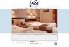 ''Irida Apartments'' at Leptokaria, Greece, a Minimal Advertising company web design.