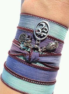 Om Buddha boho silk wrap bracelet, on etsy.