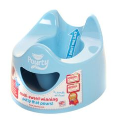 Blue Pourty Potty.  Brilliant!  sturdy but light enough for my daughter to get out and use herself.  Easy to empty and clean.  A best buy for me.