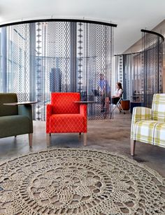 Entrelaçadas rugs at Kimball Office Chicago Showroom  thank you Studio O+A