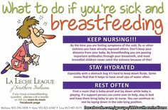 What to do if you are sick and #breastfeeding.