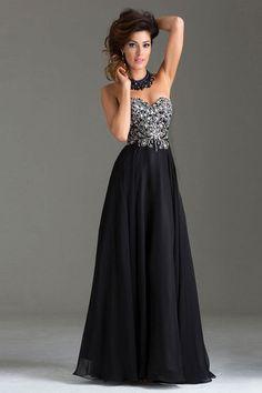 2015 Prom Dress Beaded Bodice A Line Chiffon Floor Length Chiffon USD 139.99 LDP8BQJCCK - LovingDresses.com