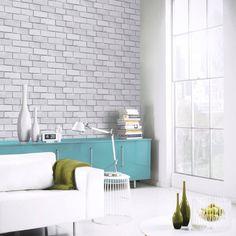 Diamond Brick Pattern Glitter Vinyl Faux Effect Textured Modern Wallpaper 669401 Modern Wallpaper, Colorful Wallpaper, Of Wallpaper, Brick Effect Wallpaper, Brick Patterns, Glitter Vinyl, Home Art, Texture, Diamond