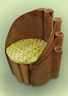 cadeira de papelão