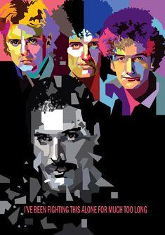This is another version of Queen. I Hope You all enjoy it. The Queen in WPAP Pop Rock, Rock And Roll, Pop Art Portraits, Queen Art, Queen Freddie Mercury, Killer Queen, Rock Posters, Rock Legends, Rock Music