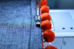 sewing pom poms