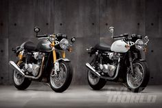 Cycle World: Revealed! 2016 Triumph Thruxton & Thruxton R | New liquid-cooled Bonnevilles push Triumph's past farther into its future.
