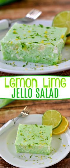 delicious Lemon Lime Jello Salad is a family-favorite recipe made with cottage cheese and pineapple! It's requested ALL the time by friends and family and is SUPER easy! // Mom On Timeout Green Jello Salad, Jello Fruit Salads, Jello With Fruit, Dessert Salads, Fruit Salad Recipes, Lime Jello Recipes, Fruit Salad With Lemon Pudding Recipe, Jello Salads For Parties, Orange Jello Salads