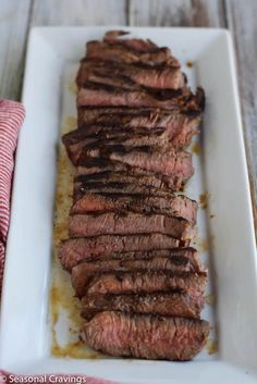 Have trouble cooking your London Broil? Is it always tough and tasteless? If so you will love this Tender London Broil. Giving the meat a little bit of love beforehand goes a long way and guarantees a tender flavorful steak every time. Baked London Broil, Easy London Broil Recipe, London Broil Marinade, London Broil Steak, Grilled London Broil, London Broil Recipes, Cooking London Broil, Crockpot London Broil, London Broil Smoker Recipe