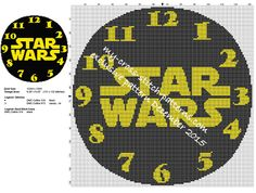 Star Wars clock pattern