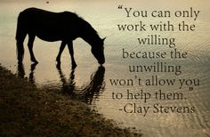 """You can only work with the willing because the unwilling won't allow you to help them""-Clay Stevens"