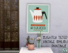 Sims 4 Studio: Simlish tilted painting • Sims 4 Downloads