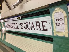 London Underground tiling design at Russell Square, Piccadilly Line | Flickr - Photo Sharing!