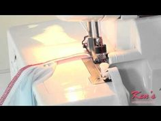 How to use the Brother Serger Elastic Foot Sewing Hacks, Sewing Tutorials, Sewing Tips, Brother 1034d Serger, Serger Projects, Sewing With Nancy, Serger Sewing, Sewing School, Sewing Techniques