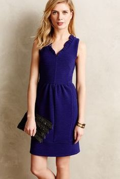 Maeve Ruffled Ottoman Dress #anthrofave