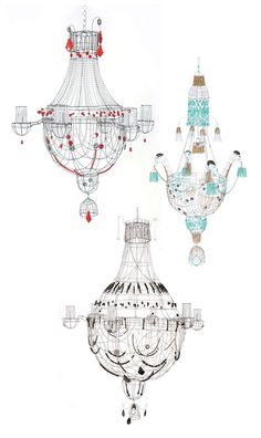 Marie Christophe chandeliers via susan connor design