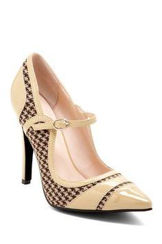 Beauty Heel Celina Patent Fabric Pump