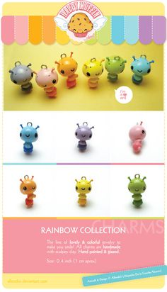 .Rainbow little ants charms. by AllendisI on DeviantArt