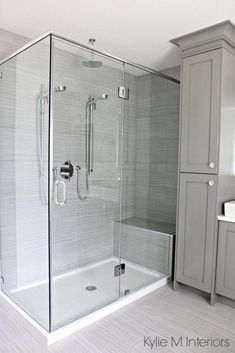 Dusche Walk in shower with 2 shower heads, fibreglass base and porcelain surround. Ensuite Bathrooms, Bathroom Renos, Budget Bathroom, Shower Ideas Bathroom, Small Bathrooms, Bad Inspiration, Bathroom Inspiration, Shower Remodel, Bath Remodel