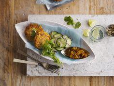 Fiskkakor med mangochutney och Alpro Soja Cuisine