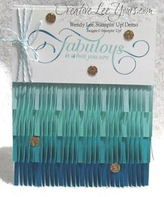 Ombre Fringe, Million & One stamp set, SU cards, by Wendy Lee, #creativeleeyours, Stampin Up!,