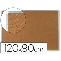 Tablero de anuncios de corcho con marco de  aluminio (90 x 120 cm.)
