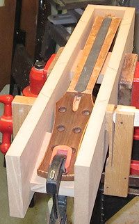 Installing the Carbon Fiber D-Tube neck brace in a guitar neck