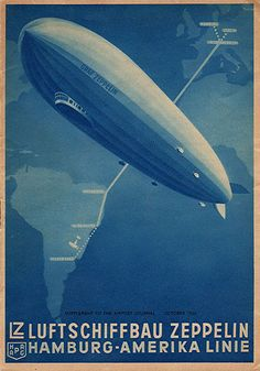 Graf Zeppelin Route Poster by lazzo51, via Flickr