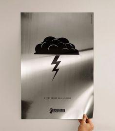 Thunder - sound poster
