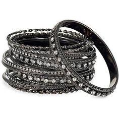 Black, Diamond Bracelets