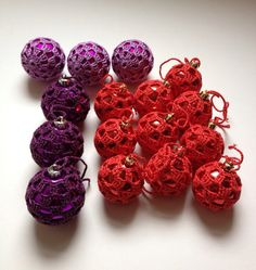Christmas Baubles Buy 10 and get 2 Free, Tree Decorations, Red Colour on Etsy, £18.00