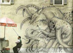 Monstro do grafite.  Por Sch1itzie