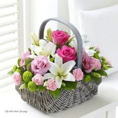 Beautiful basket of flowers.....