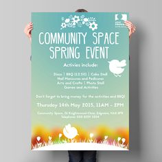 Spring Event Promotional Poster on Behance