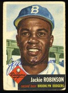 Jackie Robinson cards have are valuable collectibles. When baseball collectors buy his cards they are not just buying a card, but a piece of American history. Jackie Robinson was one of the greate… Dodgers Baseball, Baseball Art, Baseball Photos, Baseball Movies, Baseball Videos, Baseball Classic, Baseball Teams, Baseball League, Cardinals Baseball