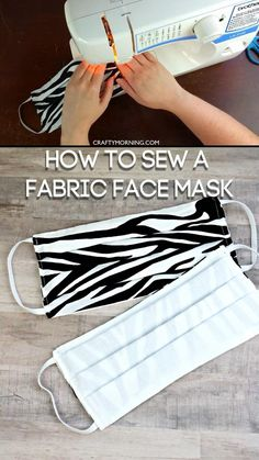 How to Sew a Fabric Face Mask (Tutorial)- step by step instructions on how to use a sewing machine to make your own mask. Covid, Coronavirus face masks