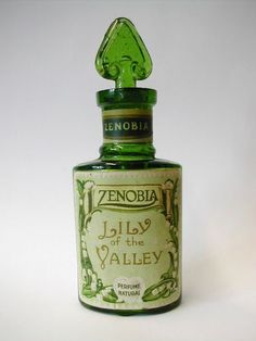 "Rare Antique Edwardian ""Zenobia"" ""Lily of The Valley"" Perfume Bottle, 1908-09"