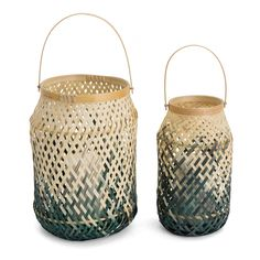 Create a tropical and exotic atmosphere with the Boda Lantern Set. Handwoven in…