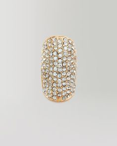 bebe   All Over Crystal Cocktail Ring