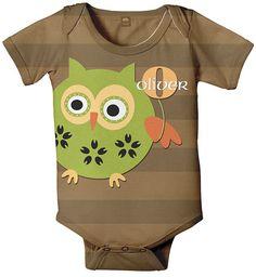Personalized Owl Baby Boy Onesie