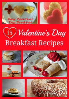 Valentine's is one of those days that I love making a special breakfast for my family. So I thought I would pull together a few fun looking recipes for you to try this year!