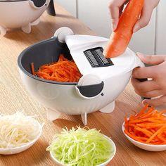 Drainage Slicer Bowl Magic Rotate The Vegetable Cutter With Drain Basket Multi-functional Kitchen Veggie Fruit Shredder Grater Slicer – DealSurreal Potato Chip Slicer, Potato Peeler, Potato Chips, Potato Onion, Vegetable Chopper, Vegetable Slicer, Vegetable Shredder, Vegetable Basket, How To Wash Vegetables